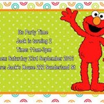 Sesame Street Elmo print at home  Invitation