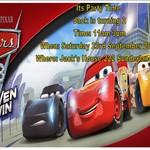 Disney/Pixar Cars 3 print at home Invitations
