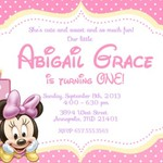 Disney Baby Minnie Mouse print at home  Invitation