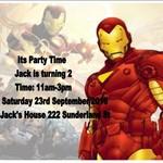 Marvel Comics Iron Man print at home  Invitations