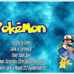 Pokémon print at home Invitations