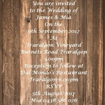 Rustic Wood Panel  print at home  Invitations