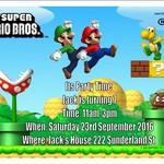 Super Mario Bros print at home  Invitation