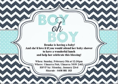 Boy oh Boy print at home Invitations