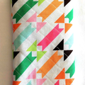 Quilted modern white geometric style fabric eye glass case, mobile phone case