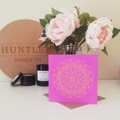 Pink Mandala Greeting Card