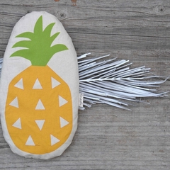 Illustrated Pineapple Organic Wheat Bag Heat Pack Cold Pack Made in Melbourne Au