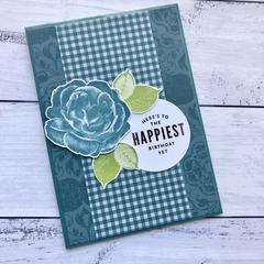 Rose Happy Birthday Card