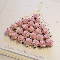 Beautiful Bride Flower Card