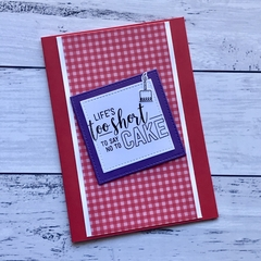 Red and Purple Happy Birthday Card