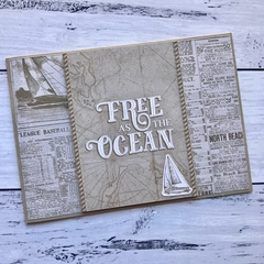Masculine Free as the Ocean Any Occasion Card