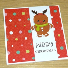 Merry Christmas card - Gingerbread babies