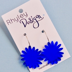 Royal Blue Bloom Earrings