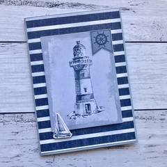 Navy and blue nautical any occasion card