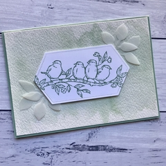 Mint Watercolour Bird Any Occasion Card