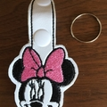 """Mr M Mouse"" and ""Miss M Mouse"" Key Fob/Zipper Pull"