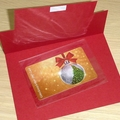 Christmas gift card holder / money wallet - red and white
