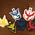 """Pokemon Teams"" Key Fob/Zipper Pull"