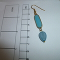 Jade and Aquamarine drop earrings