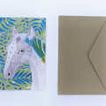 Mixed Media Horse Illustrated Greeting Card - 100% Recycled Card and Envelope -