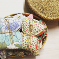 Set of 10 - Bulk Lot Vintage Fabric Eye Pillows with Brown Rice and Organic Lave
