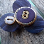 Brooch - undisposed twenty eight. made from vintage buttons ON SALE!!!