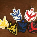 """Pokemon Teams"" Key Fob/Zipper Pull"