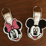"""""""Mr M Mouse"""" and """"Miss M Mouse"""" Key Fob/Zipper Pull"""