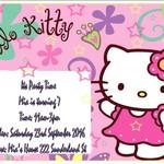 Hello Kitty print at home Invitations