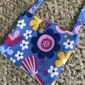 Flowers and butterflies cross-body bag