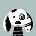 Barni. The black & white dog. Digital Download