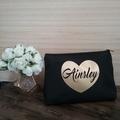Large Personalised Makeup Bag, Cosmetic Bag, Makeup Lovers Gift, Bridesmaid Gift