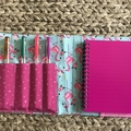 Flamingos notepad set