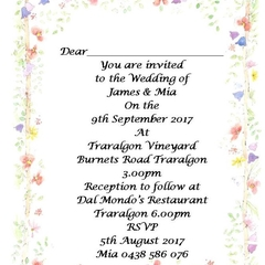 Floral print at home Invitations
