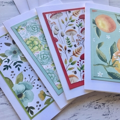 Pack of 4 Notecards, writing set, thank you, just because
