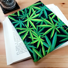 Cannabis Fabric Padded Book Sleeve