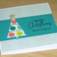 Personalised Teacher thank you Xmas card