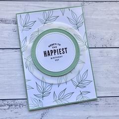 Mint Leaf Happy Birthday Card