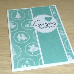 Merry Christmas card - vintage print