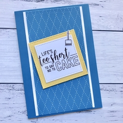 Blue and yellow Happy Birthday Card