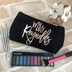 Bridesmaids Personalised Makeup Purse, Bridal Party Gift, Teen Girl Makeup Bag