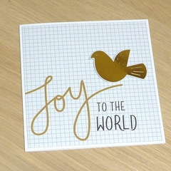 Set of 3 Christmas cards - Joy to the world