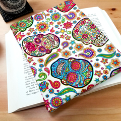 Sugar Skulls Fabric Padded Book Sleeve
