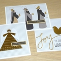 Set of 3 Christmas cards - Beautiful