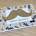 Merry Christmas card - moustache