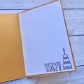 Yellow and red boy, girl, unisex Happy Birthday Card