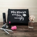 Large Makeup bag, Personalised makeup bag, Funny Gift Makeup Lover