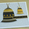 Set of 3 Christmas cards - Merry & Bright
