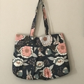 Gorgeous Grey Flowers Tote Bag