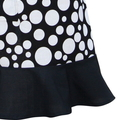 Ladies Apron in Black and White Polka Dot Fabric